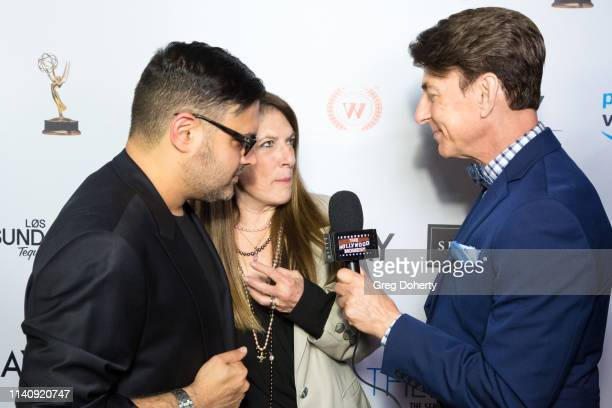Gregori J Martin and Wendy Riche are interviewed by Bj Korros at The Bay The Series PreEmmy Red Carpet Celebration at The Shelby on May 2 2019 in Los...