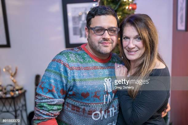 Gregori J Martin and Wendy Riche attend The Bay Ugly Sweater And Secret Santa Christmas Party at Private Residence on December 12 2017 in Los Angeles...