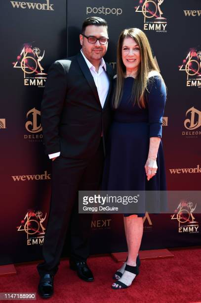 Gregori J Martin and Wendy Richie attend the 46th annual Daytime Emmy Awards at Pasadena Civic Center on May 05 2019 in Pasadena California