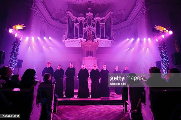 Gregorian singen in der Ludwigskirche in Saarbrücken
