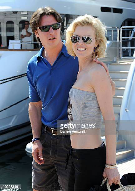 Gregorio Marsiaj and Eva Herzigova are seen attending the 63rd Cannes Film Festival on May 22 2010 in Cannes France