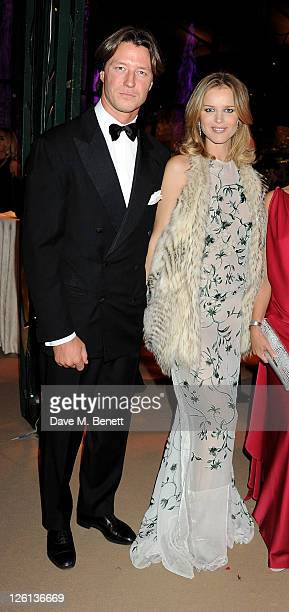 Gregorio Marsiaj and Eva Herzigova attend a champagne reception at the Raisa Gorbachev Foundation Gala held at the Stud House Hampton Court on...