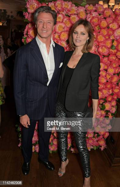 Gregorio Marsiaj and Eva Herzigova attend a private dinner hosted by Michael Kors to celebrate the new Collection Bond St Flagship Townhouse opening...