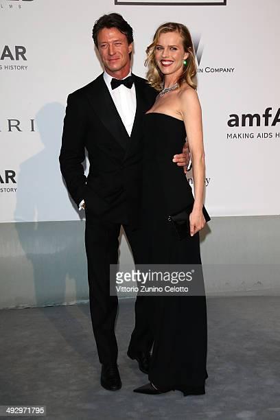 Gregorio Marsiaj and Eva Herzigova attend amfAR's 21st Cinema Against AIDS Gala Presented By WORLDVIEW BOLD FILMS And BVLGARI at Hotel du CapEdenRoc...