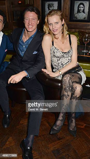 Gregorio Marsiaj and Eva Herzigova attend Giorgio Veroni's birthday party hosted by his wife Tamara Beckwith at The Rififi Club on February 12 2014...