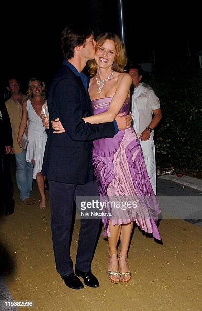 Gregorio Marsiaj and Eva Herzigova during Naomi Campbell Birthday Party Arrivals in Cannes France
