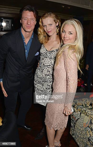 Gregorio Marsiaj Eva Herzigova and Tamara Beckwith attend Giorgio Veroni's birthday party hosted by his wife Tamara Beckwith at The Rififi Club on...