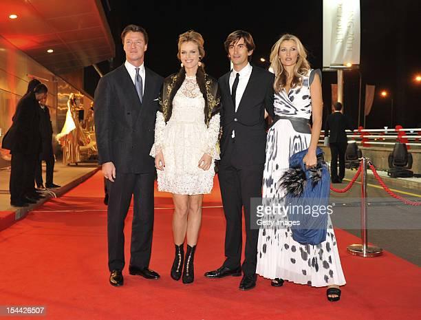 Gregorio Marsiaj supermodel Eva Herzigova Founder and Chief Executive Officer of Capital Partners Burak Oymen and model Teresa Maxova dazzle at a VIP...