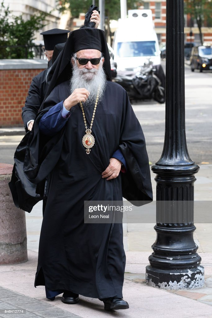 Gregorios, Orhtodox Archbishop of Thyateira and Great Britain, arrives at Westminster Cathedral for the funeral of the late British Cardinal Cormac Murphy-O'Connor, on September 13, 2017 in London, England. The 85-year-old died on September 1 after a battle with cancer.