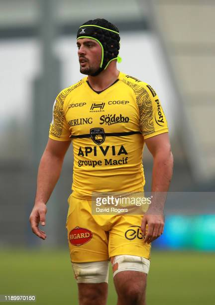 Gregory Alldritt of La Rochelle looks on during the Heineken Champions Cup Round 2 match between Sale Sharks and La Rochelle at AJ Bell Stadium on...