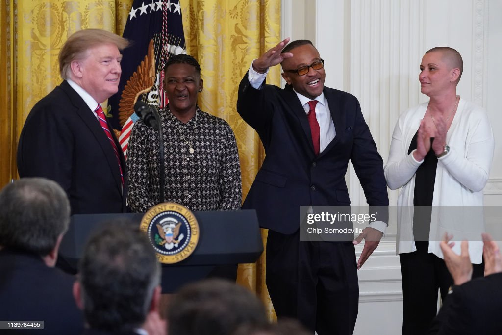 President Donald Trump Participates In Prison Reform Summit And First Step Act Celebration At The White House : News Photo