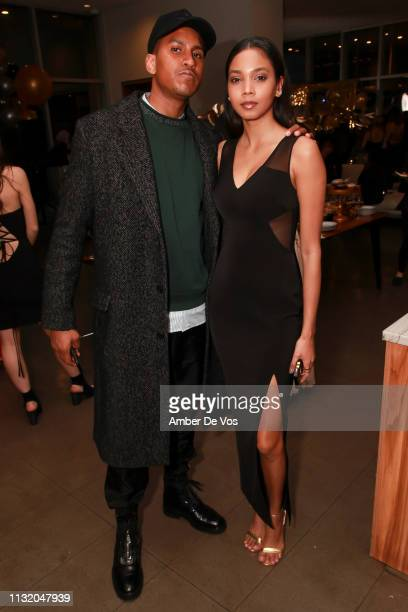 Gregory and Jonelle Alert attend Faviana's Annual Oscars Red Carpet Viewing Party on February 24 2019 in New York City