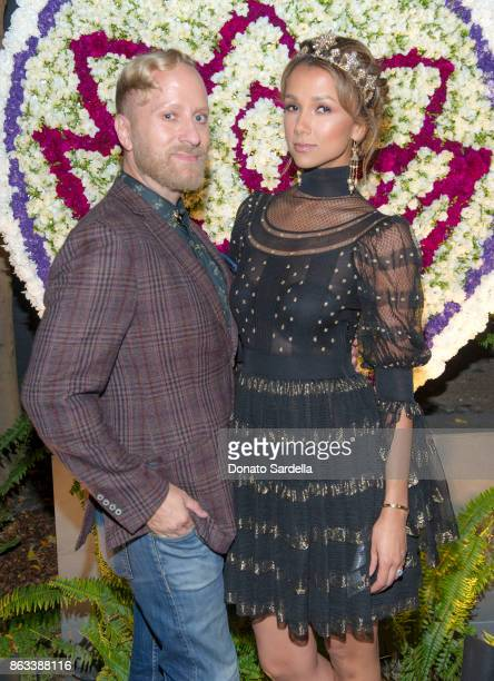 Gregory Arlt and Amie Satchu at Living Beauty 'The Gift' Photo Exhibit at The Buterbaugh Gallery on October 19 2017 in Los Angeles California