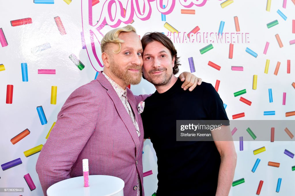Gregory Arlt (L) and Diederik Koenders attend MAC Cosmetics Oh Sweetie Lipcolour Launch Party in Beverly Hills on June 12, 2018 in Beverly Hills, California.