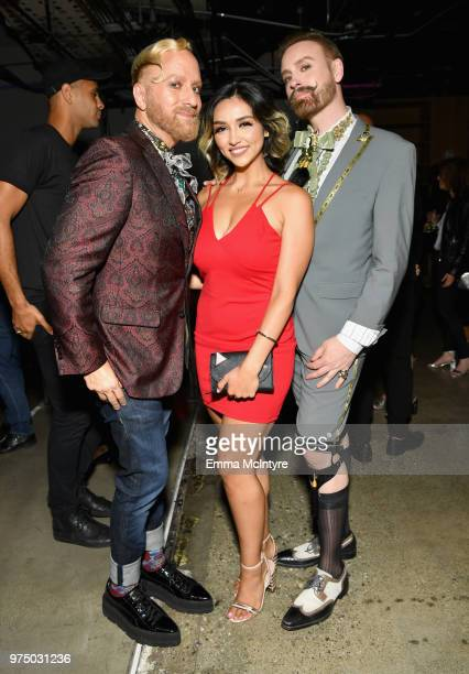 Gregory Arlt guest and Jon Lieckfelt attend MAC Cosmetics Aaliyah Launch Party on June 14 2018 in Hollywood California