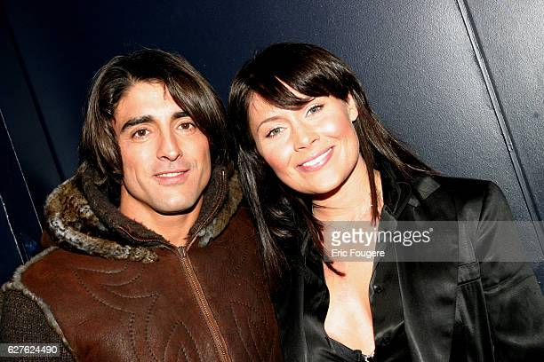 Gregory Basso and Malika attend Bruno Salamone's latest stage show