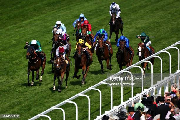 Gregory Benoist rides Qemah to win The Duke of Cambridge Stakes during day 2 of Royal Ascot at Ascot Racecourse on June 21 2017 in Ascot England