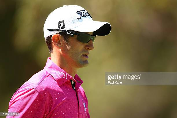 Gregory Bourdy of France looks on during day four of the 2016 Perth International at Karrinyup GC on February 28 2016 in Perth Australia