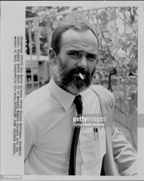 Gregory David White 35 of Hornsby Hights charged with the murder of Gail DennyWhite his wife January 27 1987