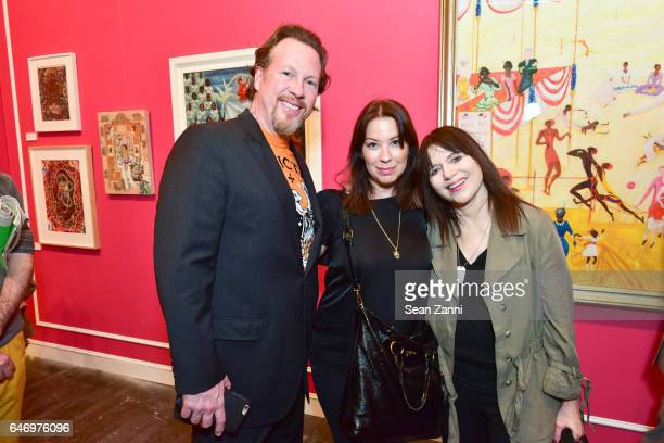 Gregory de la Haba and Guest and Judy Rifka attend the Armory Show 2017 Vernissage at Piers 92 and 94 on March 1 2017 in New York City