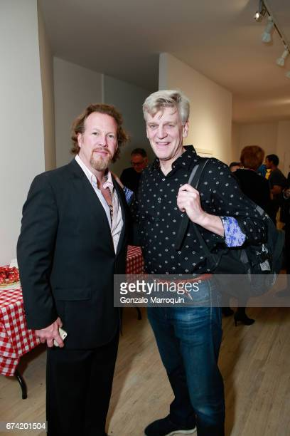 Gregory de la Haba and Peter Falk attend the Swiss Wine Valais Loves New York hosted by Gregory de la Haba Billy The Artist Anthony HadenGuest and...