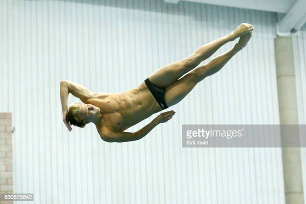 Gregory Duncan of the Dominion Dive Club completes a dive while on his way to winning the Senior Men's 3m Springboard Final during the 2017 USA...