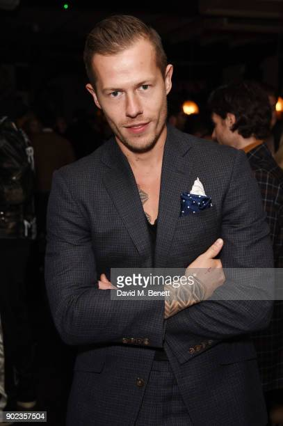 Gregory Emvy attends the LFWM Official Party Pub LockIn during London Fashion Week Men's January 2018 at The George on January 7 2018 in London...