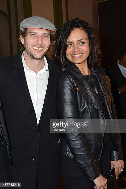Gregory Ferrie and Laurence Roustandjee attend the 'Diamond Night by Divinescence Vendome' Harumi Klossowska Jewellery Exhibition Preview As Part Of...