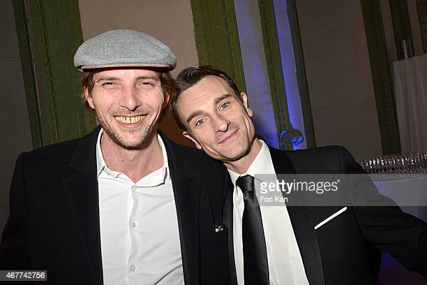 Gregory Ferrie and Renaud Duval attend the 'Diamond Night by Divinescence Vendome' Harumi Klossowska Jewellery Exhibition Preview As Part Of Art...