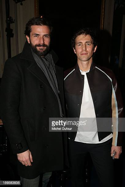 Gregory Fitoussi and James Marshall attend the Valentino Men Autumn / Winter 2013 show as part of Paris Fashion Week on January 16 2013 in Paris...