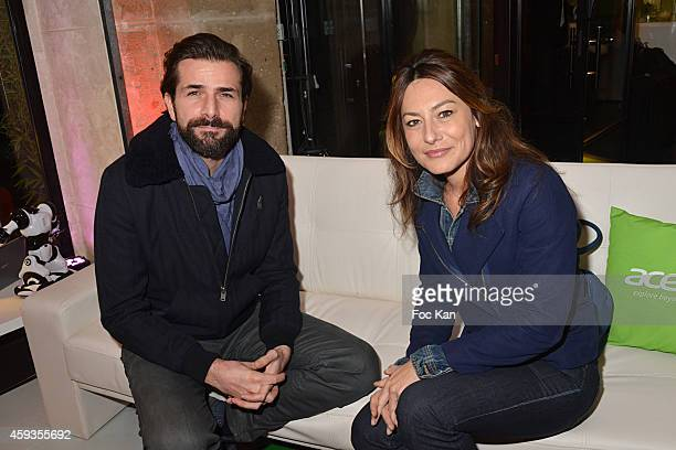 Gregory Fitoussi and Shirley Bousquet attend the Acer Pop Up Store Launch Party at Les Halles on November 20, 2014 in Paris, France.