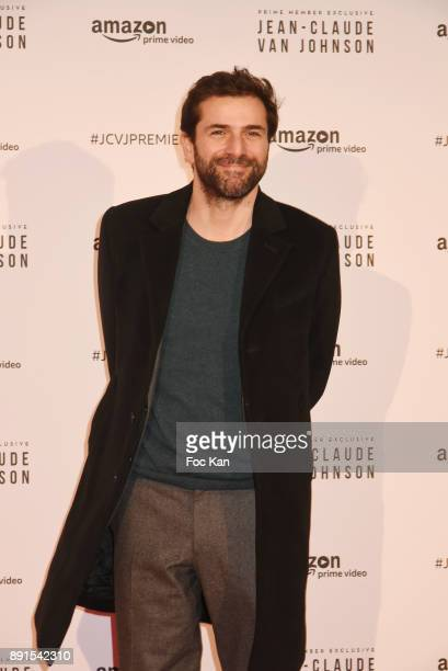 Gregory Fitoussi attends the Amazon TV Serie 'Jean Claude Van Jonhson' Paris Premiere At Le Grand Rex on December 12 2017 in Paris France