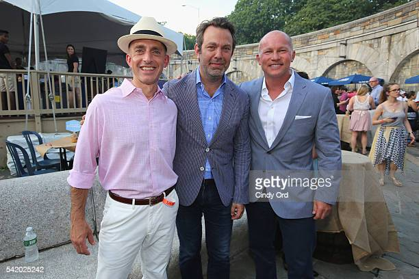 Gregory Gatto Publisher of Bonnier Outdoor Brands Adam Sachs SAVEUR EditorInChief and Eric Zinczenko CEO of Bonnier Corp attend The 7th Annual Saveur...