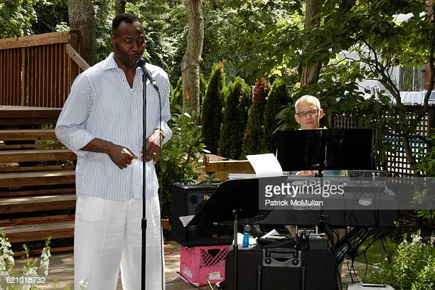 Gregory Generet and Lawrence Hobgood attend Rosie Pope Maternity Hamptons Cottages Gardens B Michael and Alicia Blythewood Gives Awareness Event For...