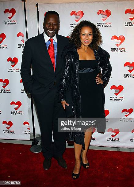 Gregory Generet and Tamara Tunie attend the Golden Hearts Awards hosted by God's Love We Deliver at The IAC Building on October 25 2010 in New York...