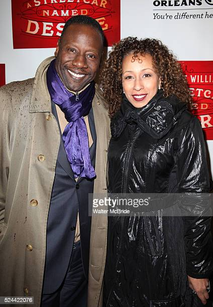 Gregory Generet and Tamara Tunie attending the Broadway Opening Night Performance of 'A Streetcar Named Desire' at the Broadhurst Theatre on...