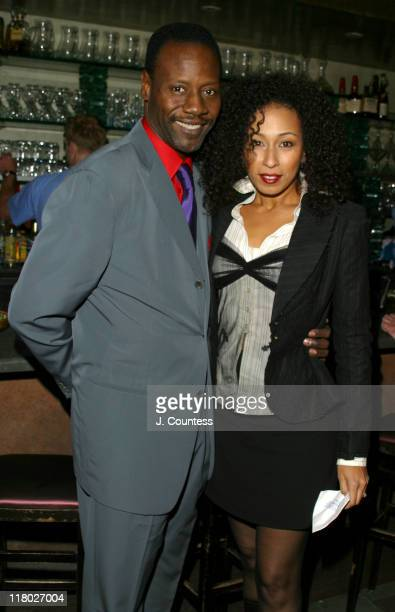 Gregory Generet and Tamara Tunie during Law and Order Special Victims Unit 100th Episode Party at TAO at TAO in New York City New York United States
