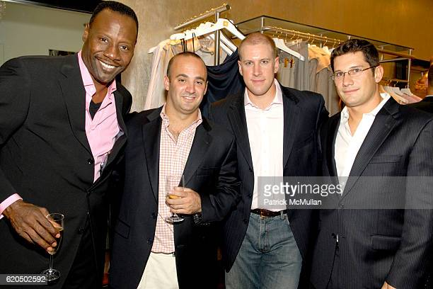 Gregory Generet Jason Feinberg Daron Pope and David Stewart attend ROSIE POPE Maternity and Divalysscious Moms Celebrate the Opening of ROSIE POPE...