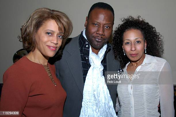 Gregory Generet Tamara Tunie and guest during Akeelah and the Bee Private Screening and Dinner at DOLBY Screening Room in New York City New York...