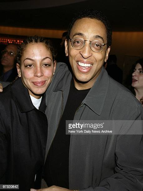 Gregory Hines and daughter Daria arrive at the Showtime annual programing preview luncheon at Brasserie 8 ??.