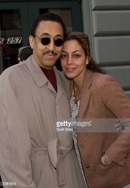 Gregory Hines and his daughter Daria arrive at the opening of August Wilson's new Broadway play 'King Hedley II' at the Virginia Theatre in New York...
