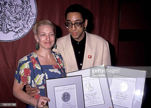 Gregory Hines and Pamela Koslow Hines during 46th Tony Awards Nominees Brunch at Sardi's Restaurant in New York City NY United States