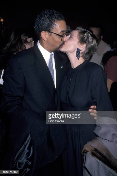 Gregory Hines and Pamela Koslow Hines during Premiere of Tap at Ziegfeld Theater in New York City NY United States