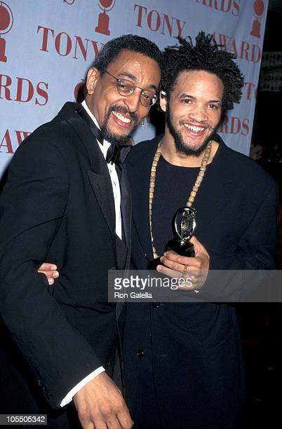 Gregory Hines and Savion Glover during 50th Annual Tony Awards at Majestic Theater in New York City New York United States
