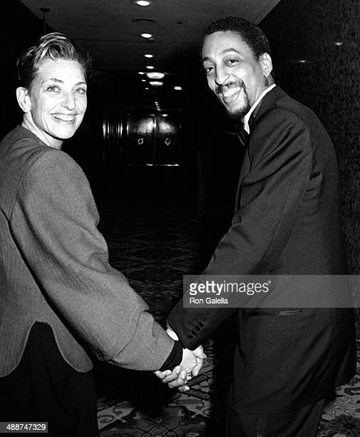 Gregory Hines and wife Pamela Koslow attend 13th Annual American Film Institute Lifetime Achievement Awards Honoring Gene Kelly on March 7 1985 at...