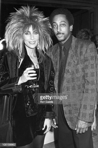 Gregory Hines Cher during White Nights Los Angeles Premiere at Samuel Goldwyn Theater in Beverly Hills California United States