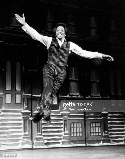 Gregory Hines, dancer and actor, on the stage set of the musical 'Comin Uptown', New York, New York, 1979.