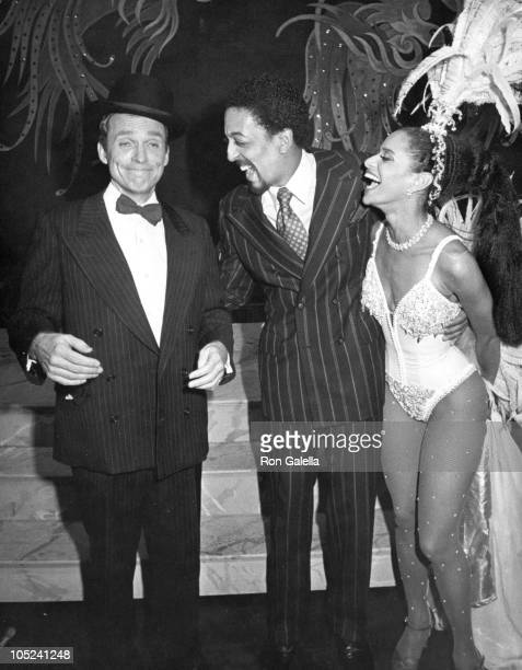 Gregory Hines Dick Cavett Debbie Allen during The Parade of Stars at The Palace in New York City NY United States