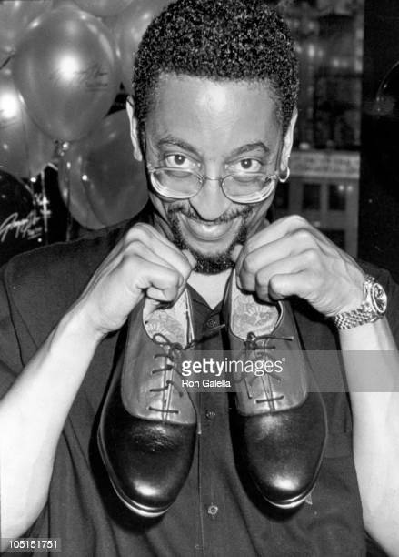Gregory Hines during Launch of Gregory Hines' Signiture Shoe Series at Taffy's in New York City, NY, United States.