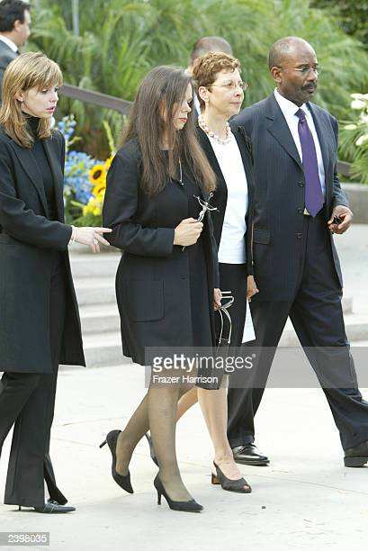 Gregory Hines fiancee Negrita Jayde leaves the memorial service at Saint Monica's Catholic Church held for Hines on August 13 2003 in Santa Monica...